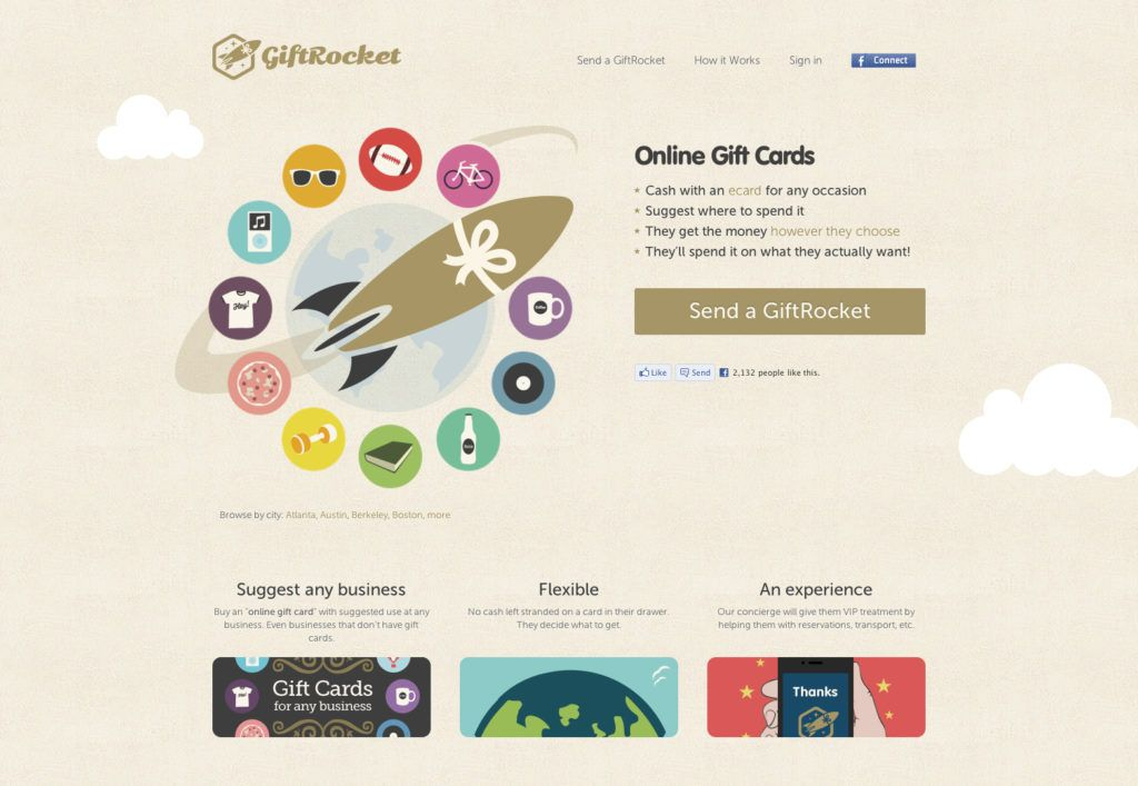 Online Gift Cards and Printable E-gift Cards | GiftRocket