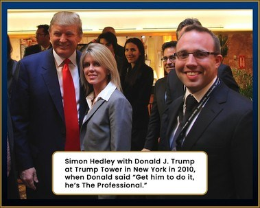 DR Simon Hedley (FIXMYFIRM.CO.UK) with Donald J Trump