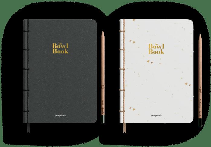 Przepiśnik The Bowl Book wykonany z ekologicznego papieru z ołówkiem Sprout. Notatnik ma dwie wersje kolorystyczne, ciemną i jasną. Kup w przedsprzedaży.