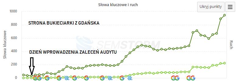audyt strony internetowej bukieciarki Gdańsk