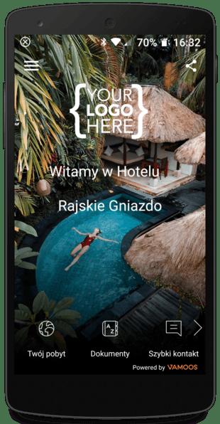Telefon aplikacja hotel