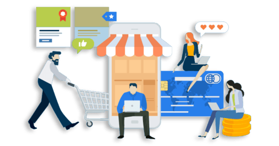 B2B e-commerce illustration