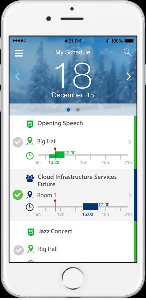 mobile app for Drupal event