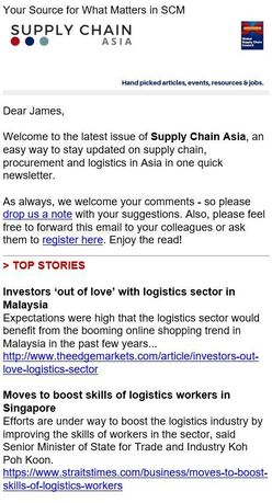 Supply Chain Asia Newsletter