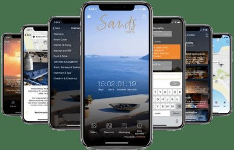 Aplikacja mobilna z logo biura podróży na każdy wyjazd