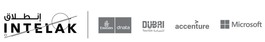 Intelak Travel Technology Incubator Logo with Emirates Group and Dubai Tourism