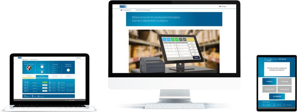 Platforma e-learningowa do testów pracowniczych - nie można wyświetlić obrazu