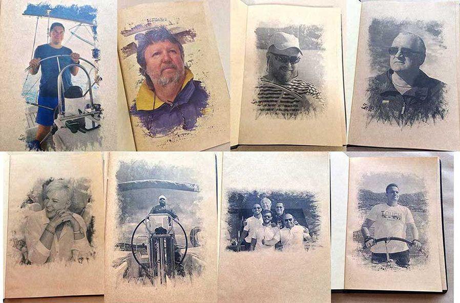 фото стилизованных фотографий для печати в кожаном логбуке