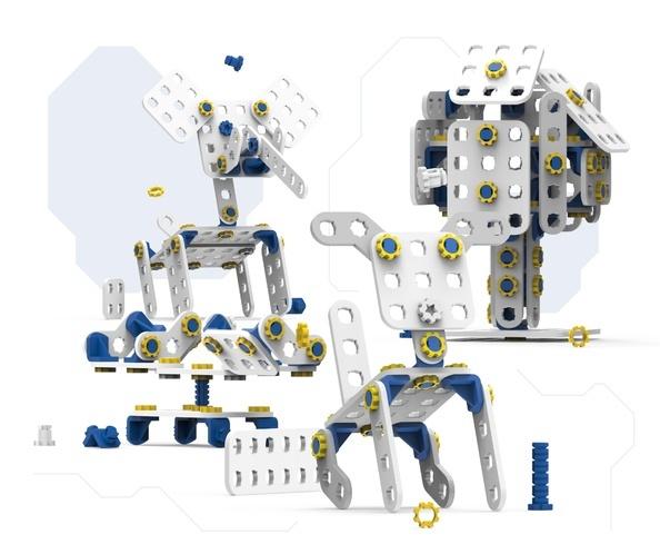 SkriKit odwzorowuje faktyczne narzędzia konstrukcyjne i rozwija umiejętności manualne dzieci.