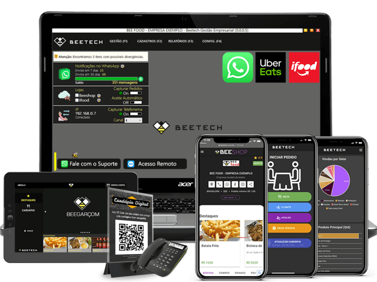 Beetech - Beefood - Sistema para área de alimentação - IFood e UberEats