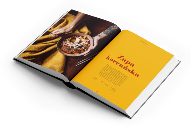 Zupa koreańska w albumie kulinarnym The Bowl Book. Kup swój egzemplarz wegańskiego albumu z prostymi i szybkimi przepisami.
