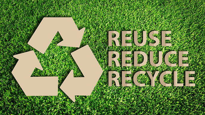 a recycle sign showing the importance of Reuseability