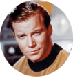 Picture of Captain Kirk from Star Trek