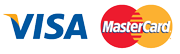 We accept payments from Visa and Mastercard