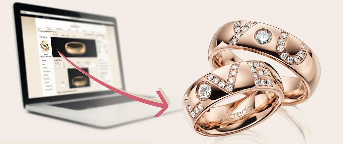 Configuration de bagues de mariage en ligne