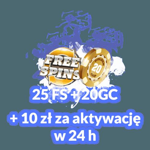 25 FS + 20 GC + 10 zł za aktywację do 24h
