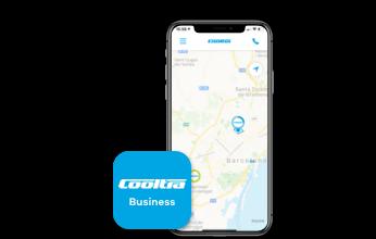 Écran mobile où vous pouvez voir l'application Cooltra