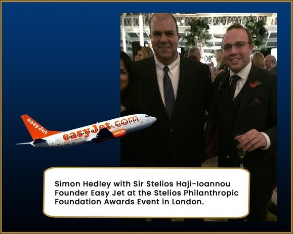 Dr Simon Hedley with Sir Stelios Haji-Ioannou