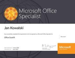 Kurs Specjalista MS Excel z egzamin MOS