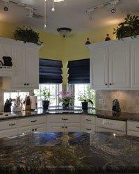 image of black granite countertops