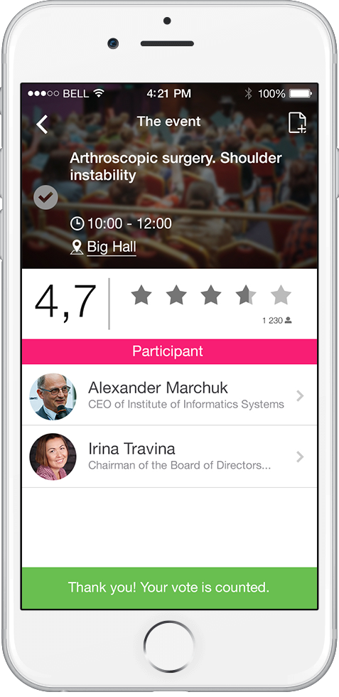 mobile app for medical international congress