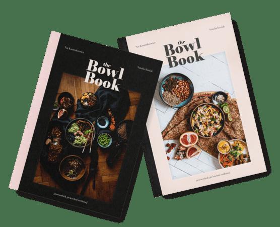 Album The Bowl Book ma dwie okładki do wyboru w sprzedaży. Książka kucharska z ultraprostymi pomysłami na wegańskie miski.