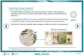 Zabezpieczenia banknotów - szkolenie e-learning - nie można wyświetlić obrazu