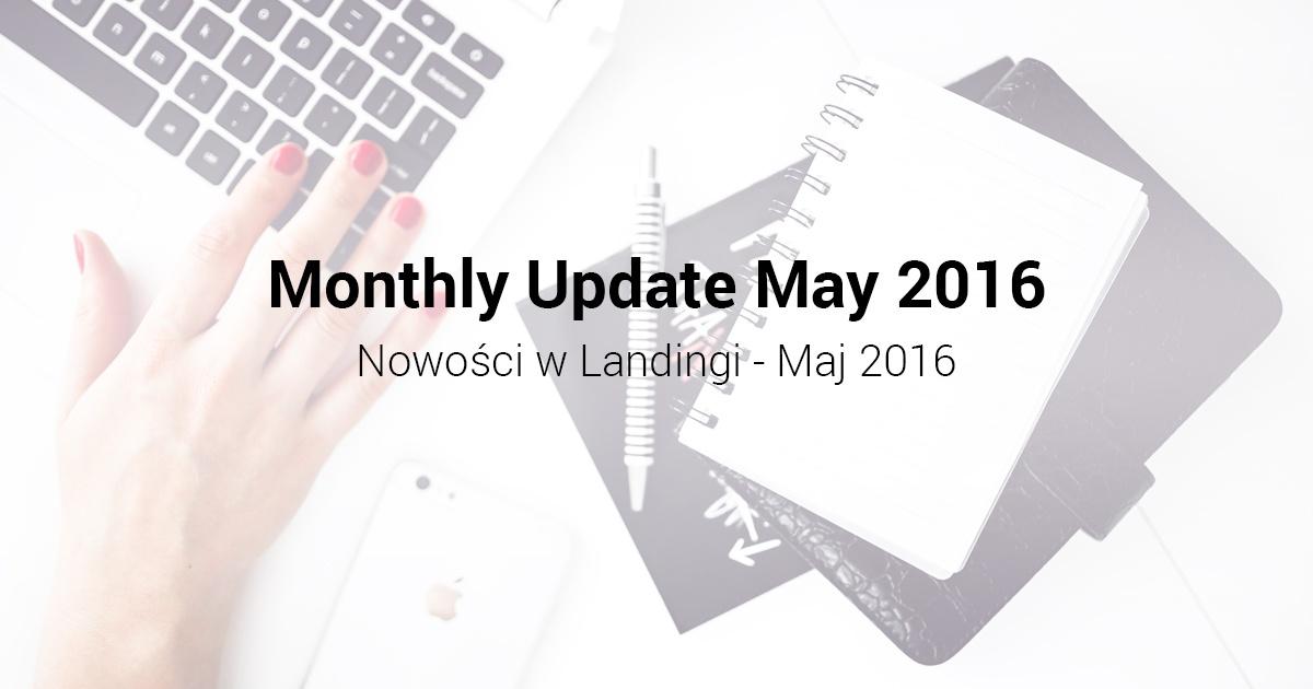 Nowości w Landingi Maj 2016