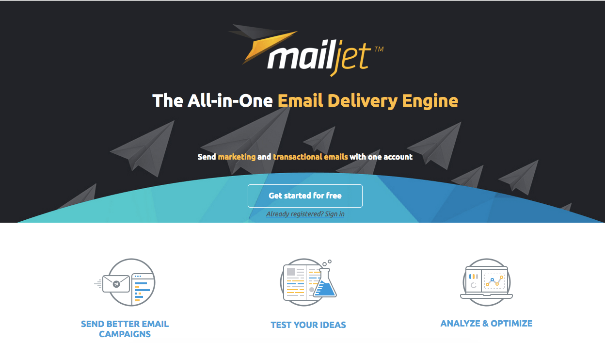 How do you start selling via your landing page mailjet