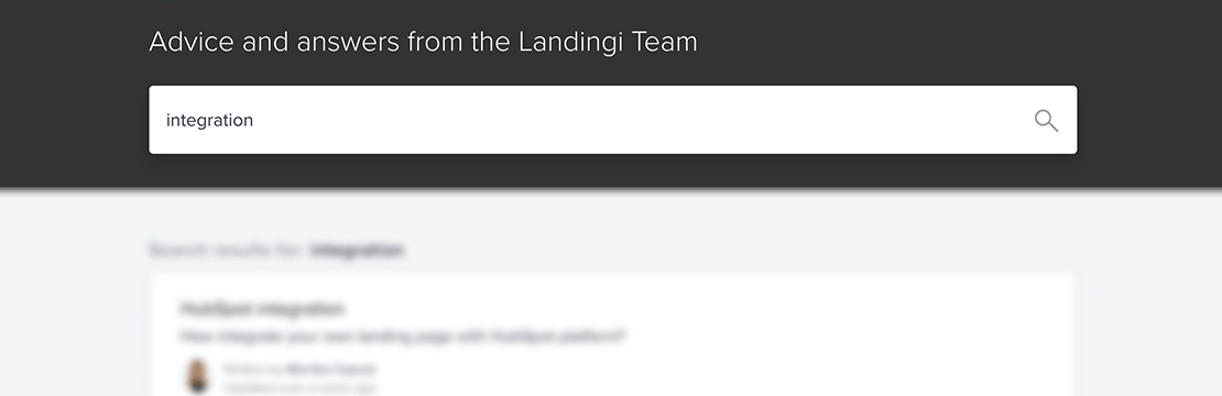 Landingi Contact - knowledge base