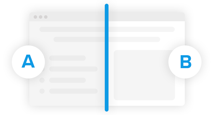 Landing Page builder for agencies A/B test