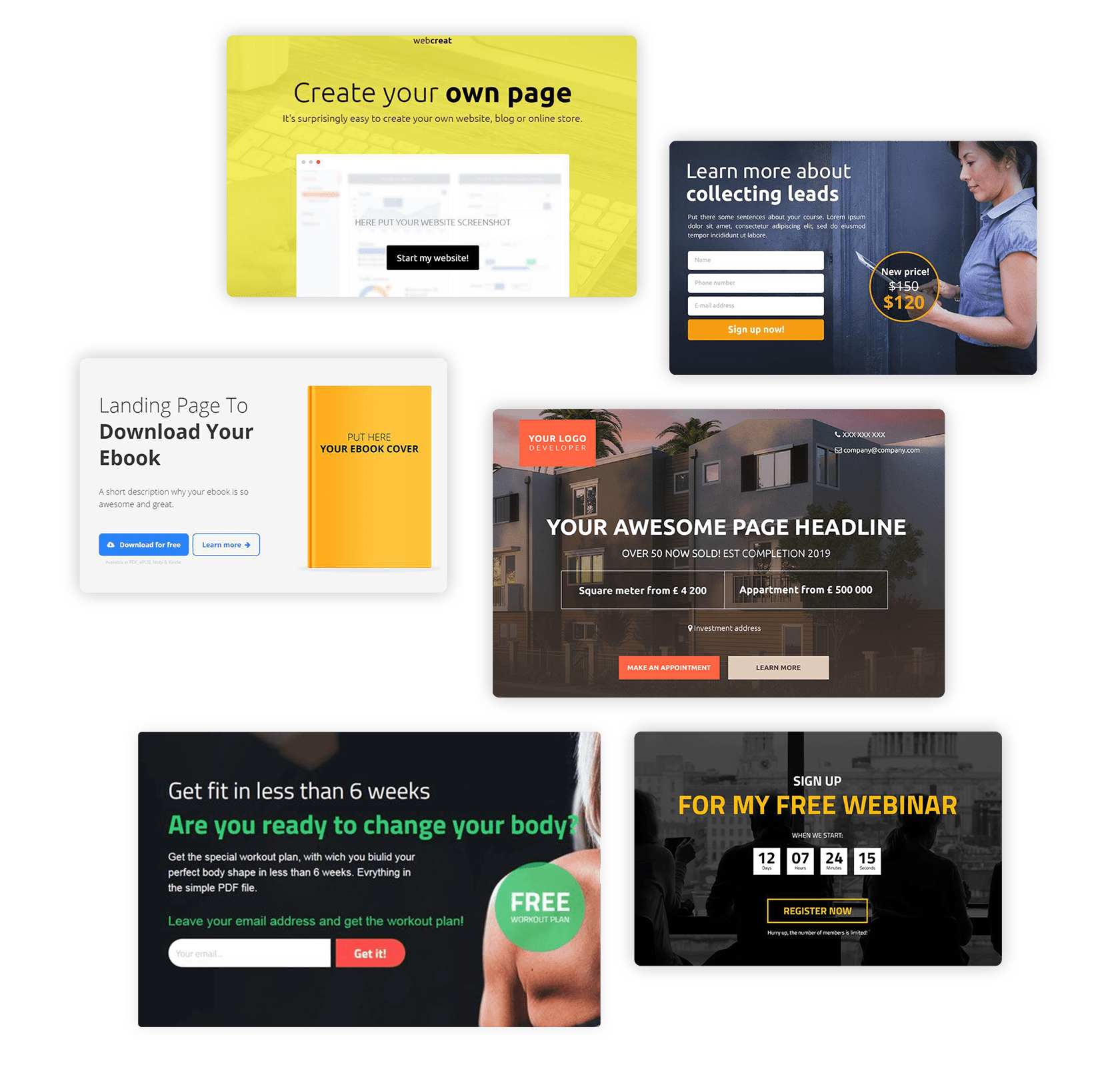 Landing Page builder for agencies templates