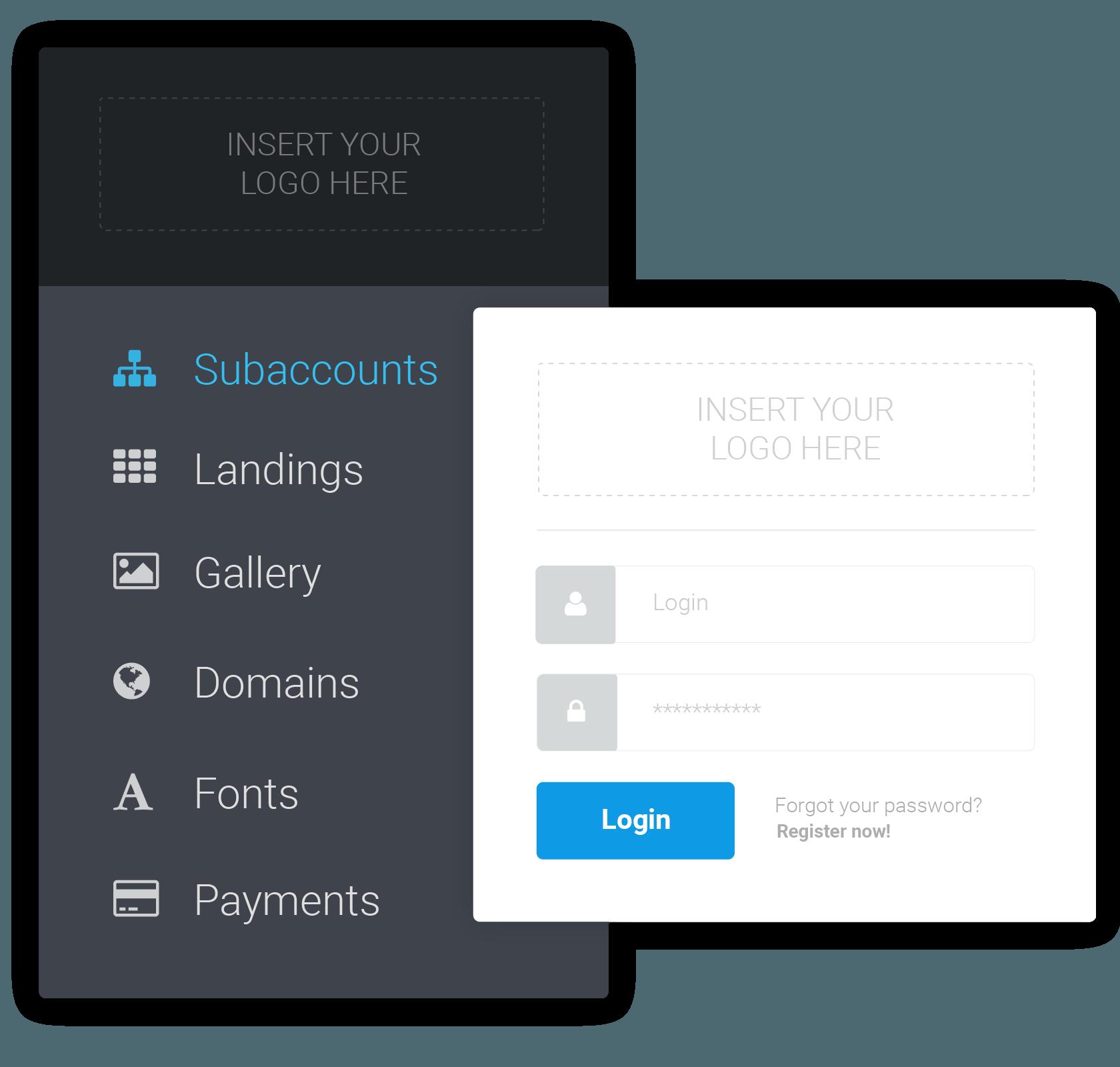 Landing Page builder for agencies white label platform