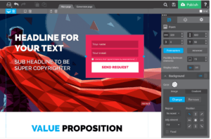 Create landing pages design landing pages