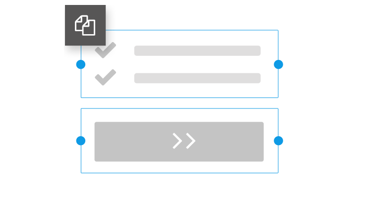 Create landing pages duplicate elements