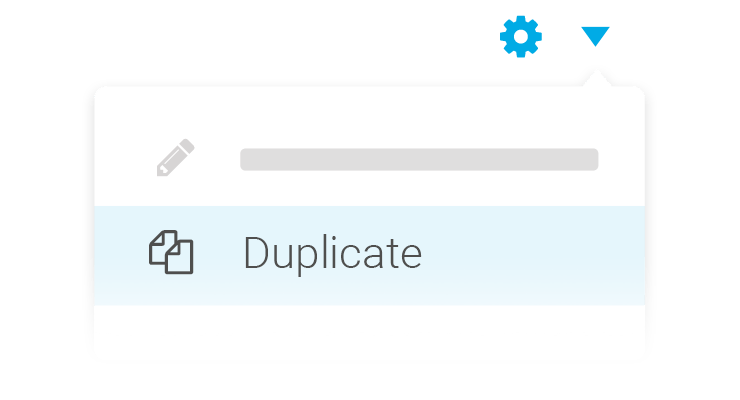 Create landing pages duplicate