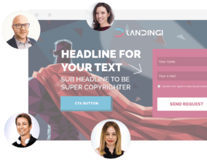 Create landing pages invite others from the team