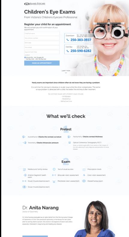 landing_page_portfolio_islandeyecare_children