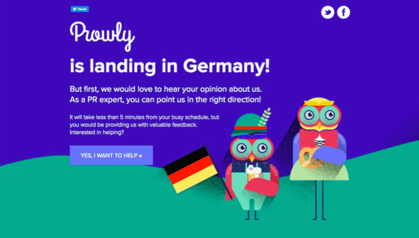 prowly_landing_page_germany_location_personalization
