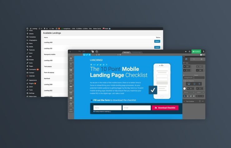 landingi wordpress plugin