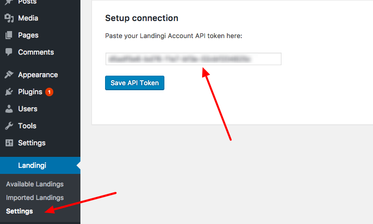 wordpress-token-setup-connection