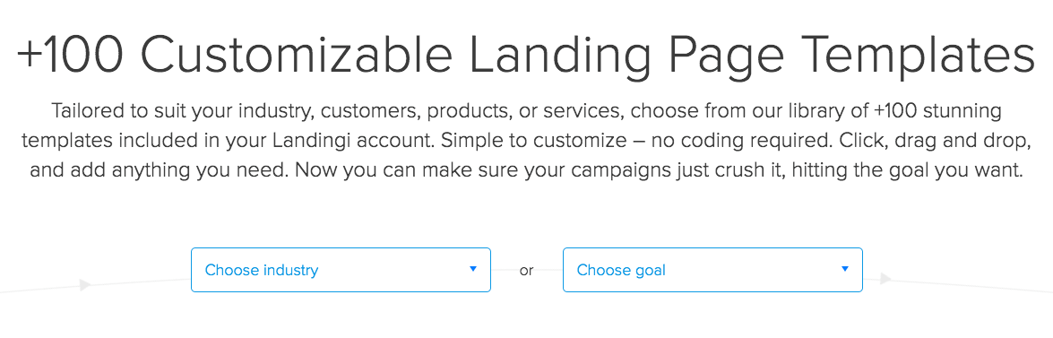 choose-template-landing-page-industry-or-goal
