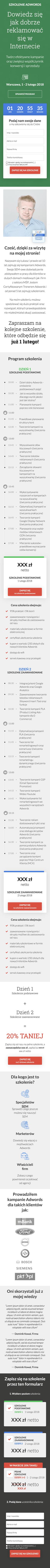 Łukasz Chwiszczuk – Szkolenie AdWords
