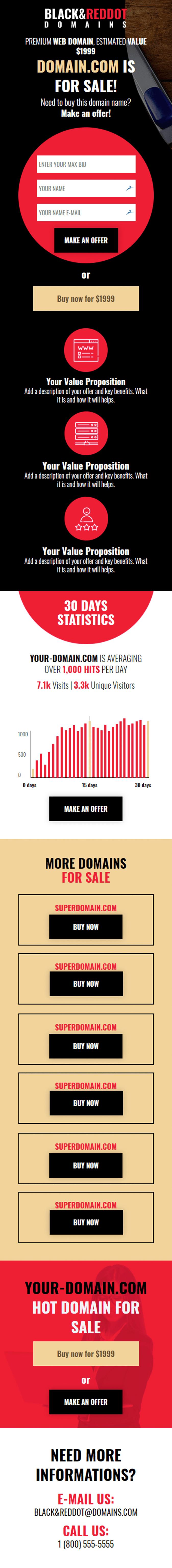 Domain Sale - Landing Page Template   Landingi
