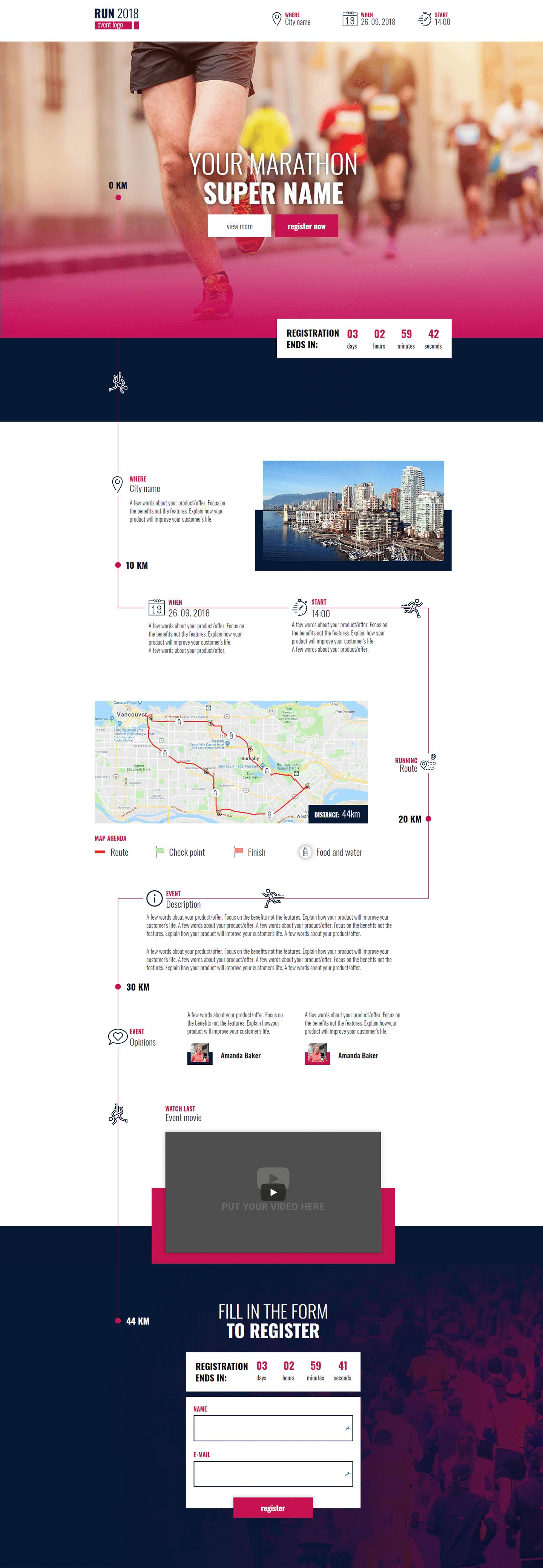 Run Event - Landing Page Template | Landingi