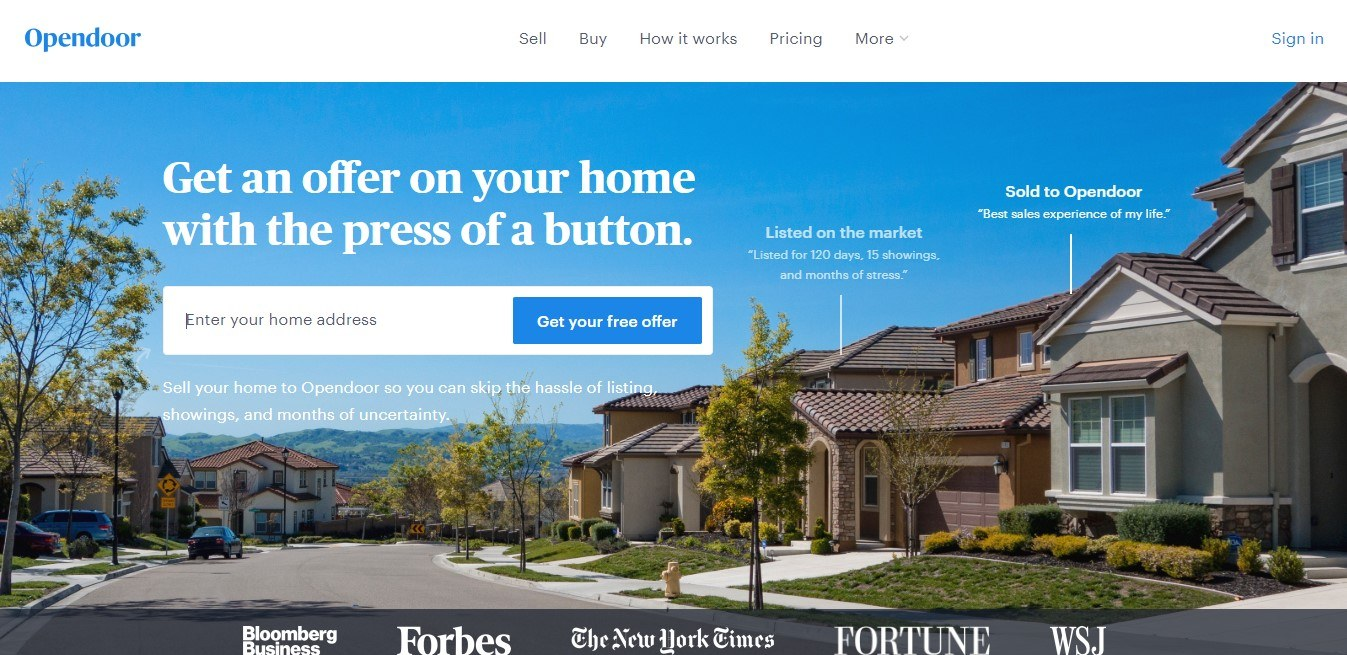 outdoor real estate landing page example