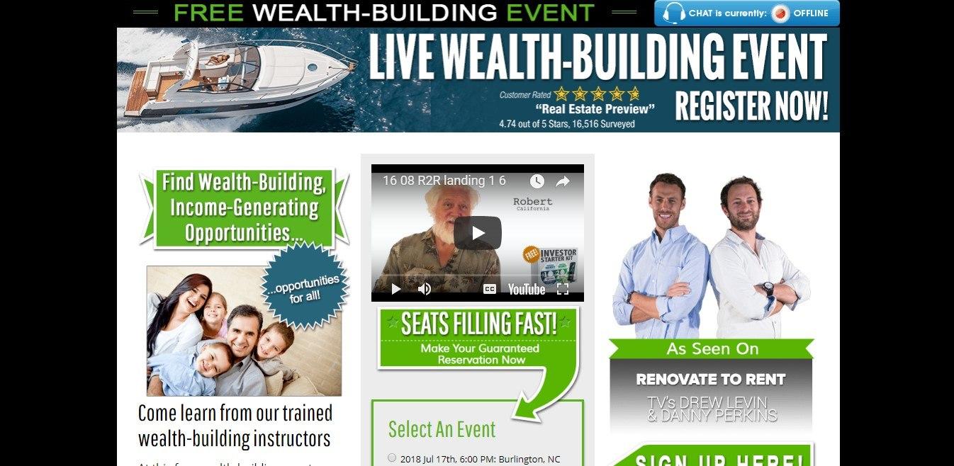 Landing Page Example - Real Estate Webinars