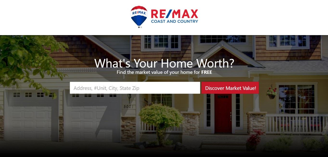 Landing Page Example - Remax