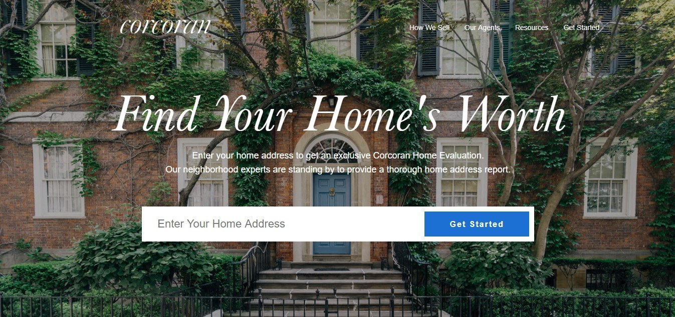 Landing Page Examples - Corcoran