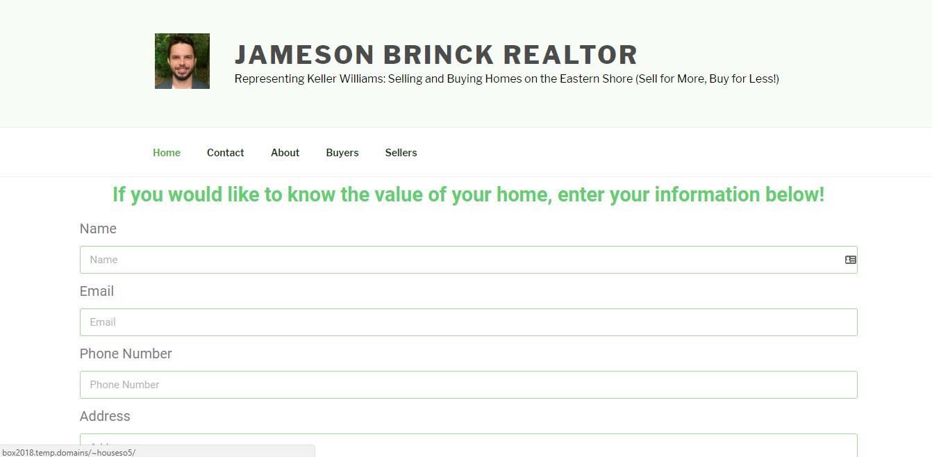 Landing Page Examples - Jameson Brinck